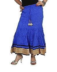 Sringar Women's Skirt (As2025_Blue_30)