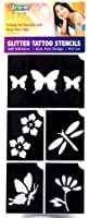 Flower Garden Glitter Tattoo Stencil Set Party Accessory