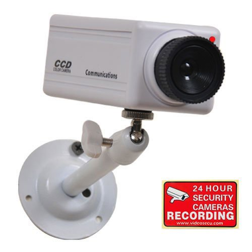 Best Deals! VideoSecu Fake Dummy Simulated Security Camera with Flashing Red LED Light Free Warning ...