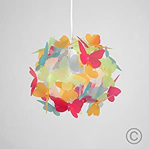 Beautiful Modern Butterflies Ceiling Pendant Bedroom Chandelier Light Lamp Shade from MiniSun