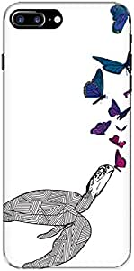 The Racoon Grip Butterfly Kisses hard plastic printed back case/cover for Apple Iphone 7 Plus