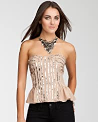 Sequin Peplum Bustier - WEB EXCLUSIVE