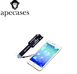 ApeCases FOLDABLE PORTABLE BLUETOOTH SELFIE STICK MINI COMPATIBLE FOR IPHONE 6 6+ 5 5S 5C 4, SAMSUNG S5 S4 S3 and others
