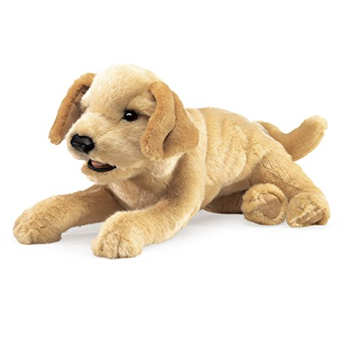 Folkmanis Yellow Labrador Puppy Hand Puppet