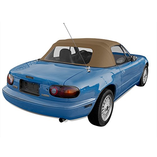 Mazda Miata, 1990-2005 Factory Style Convertible Top with Clear Plastic Window, Tan Cabrio Grain Vinyl (1995 Convertible Top compare prices)