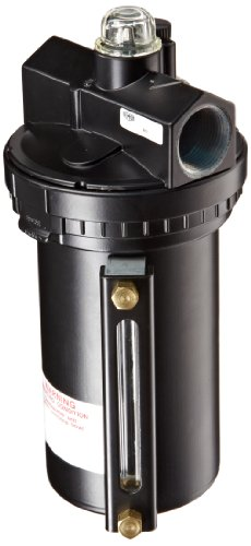 "Dixon L30-08AMB Wilkerson EconOmist Standard Lubricator with Metal Bowl, 1"" Size, 374 SCFM Flow, 200 psig Pressure"