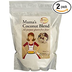 Gluten Free Mama, Mama's Coconut Blend Flour, All Purpose Flour, 32-Ounce Pouches (Pack of 2)