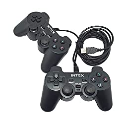 Intex 2 pieces Computer Game Pad IT-GP04B Support Real Vibration, Digital and analog mode control