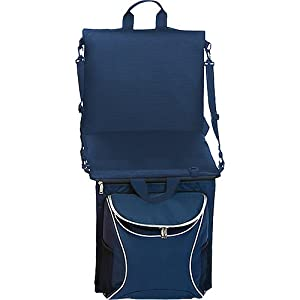 Picnic Plus Portable Stadium Seat With Cooler And Shoulder Straps by Picnic Plus