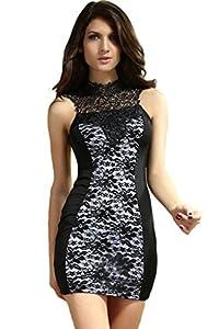 Dear-lover Women's Sexy Sleeveless Bodycon Mini Dress