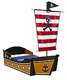 Kinderbett-Piratenschiff-mit-Mast-und-Segel-140x70-cm