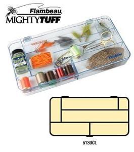Flambeau Tackle Mighty Tuff Fly Box (Clear, 11.94x5.95x1.44-Inch)