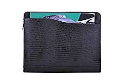 Deluxe Reptile-Textured Organizer Padfolio, Letter-Size, for Microsoft Surface Pro 3 / Surface Pro 4, Coffee