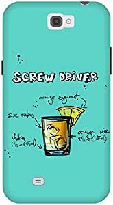 The Racoon Grip Turquoise Screwdriver hard plastic printed back case / cover for Samsung Galaxy Note 2