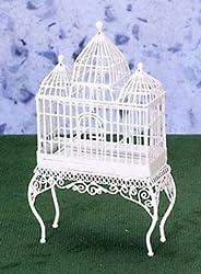 Dollhouse BIRD CAGE, WHITE WIRE