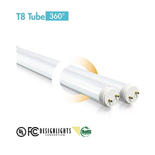 Sunsun Lighting 4Ft 18W Led T8, Full Glass Tube (3500K)