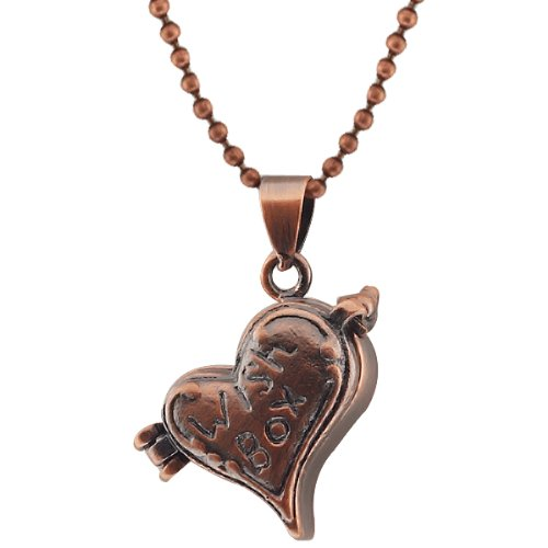 Stunning Heart Shape With Wish Box Engraved Locket Pendant With 28 Inch Chain