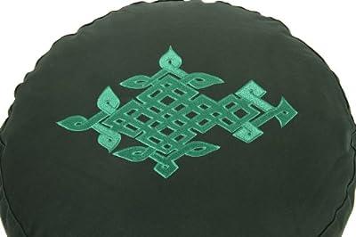 Meditationskissen Glückssitz keltischer Baum des Lebens grün, 33 cm x 17 cm, Bezug und Inlett 100 % Baumwolle, Füllung Buchweizenschalen, Bezug und Inlett maschinenwaschbar bis 30º C