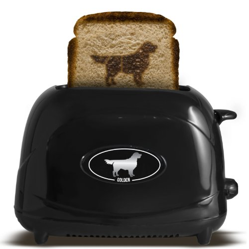 Pangea Brands TSTE-PET-GOLD 2-Slice Pet Emblazing Toaster, Golden Retriever