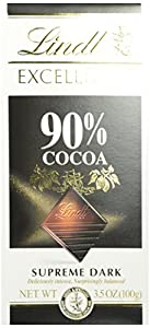 Lindt Excellence Supreme Dark Chocolate 90% Cocoa, 3.5-Ounce Packages (Pack of 12)