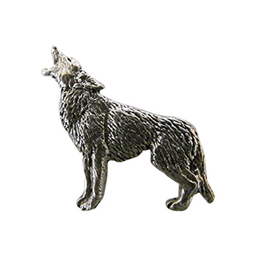 Pewter ~ Coyote Full Body ~ Lapel Pin / Brooch ~ M046