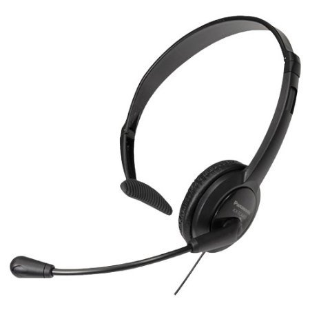 Panasonic Hands-Free Headset with Foldable Comfort Fit, Lightweight Headband & Flexible, Optimum Voice Microphone For The Panasonic KX-TG7521EM - KX-TG7522EM & KX-TG7523EM DECT Digital Silver Cordless Phone Set with Answer Machine picture