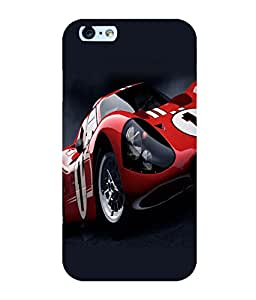printtech Superfast Car Back Case Cover for Apple iPhone 6