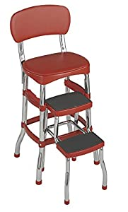 Amazon Com Cosco 11120red1 Retro Chair Step Stool Red