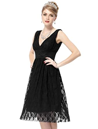 HE03410BK08, Black, 6US, Ever Pretty Cheap Short Party Dress For Women 03410