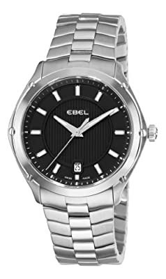 Ebel Men's 9955Q41/153450 Classic Sport Black Dial Stainless-Steel Bracelet Watch