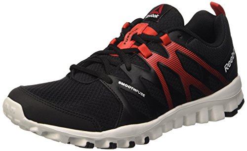 Reebok Realflex Train 4.0, Scarpe Sportive Indoor Uomo, Nero (Black/Motor Red/Skull Grey), 43 EU