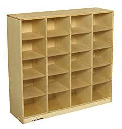 Childcraft 3601 Cubby 20 Tray Shelf, 38-3/8 x 11-5/8 x 36 Inches Height,11.63 Inches Width,38.380000000000003 Inches Length,Natural Wood