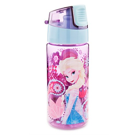 Best Review Of Disney Store Frozen Elsa & Anna Water Bottle with Flip Top