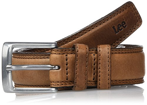 Lee Stitched Raised Belt, Cintura Uomo, Marrone (Dark Brown 24), 100 cm