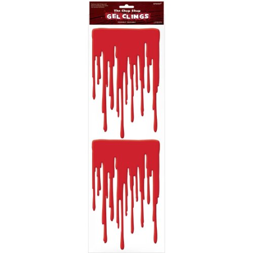 1 X HALLOWEEN The Chop Shop Reusable Blood Gel Clings - 1