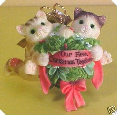 Calico Kittens Enesco Our First Christmas Together Ornament