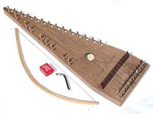 Zither Heaven 22 String Black Walnut Bowed Psaltery