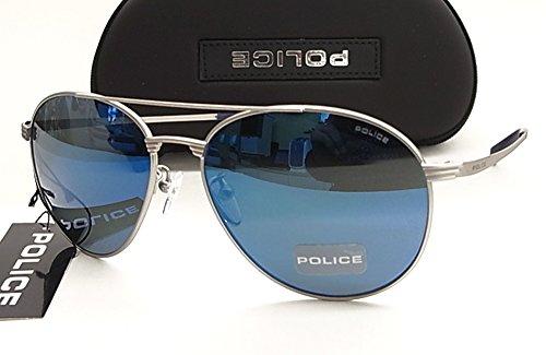 【POLICE】 ポリス サングラス S8953M-581B ブルーミラー 正規品 ティアドロップ