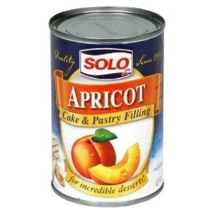 Solo Apricot Filling Pastries Cookie Filling 12 Oz Can (3 Cans)