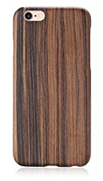 iPhone 6 / iPhone 6s Case, PITAKA® [Aramidcore Wood Series] Natural Slim Hard Cover Wood Case for iPhone 6 / iPhone 6s (4.7 Inch) - Santos Rosewood