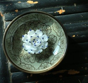 Quemadordeinciensorecipientesoporte Antigüedad Blanco azul