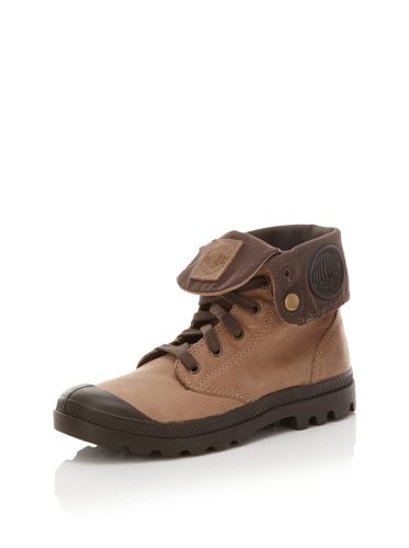 Palladium Women's Baggy Leather Boot 92356 Walnut 10