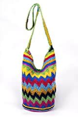 CROCHET BEACH BAG MULTI