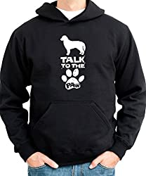 talk to the paw Bernese Mountain Dog Mens Hoodie