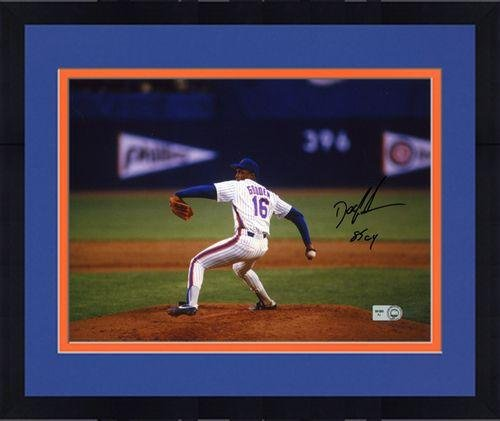 "Framed Dwight Doc Gooden New York Mets Autographed 8"" X 10"" Photograph With 85 Cy Inscription - Fanatics Authentic Certified"