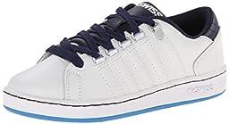 K-Swiss Lozan PS Tennis Shoe (Little Kid),White/Navy/Brilliant Blue,2.5 M US Little Kid