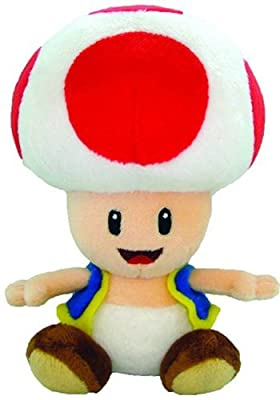 "Nintendo Official Super Mario Toad Plush, 6"" by Japan VideoGames"