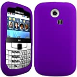 Wayzon Purple Samsung S3350 Ch@t Chat Case Cover Skin Pouch Shell Plain Silica Rubber