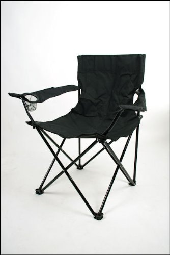 Special-trends - Silla plegable de camping, color negro