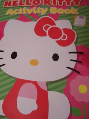 Hello Kitty Coloring & Activity Book ~ Kitty on Pink and Green with Flower
